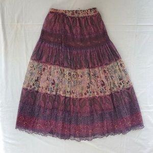 Maxi Skirt Long Lightweight Purple Size Small